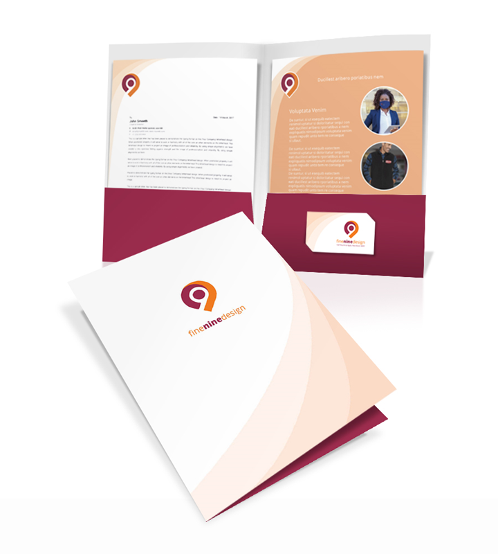 Full Color Presentation Folder Printing
